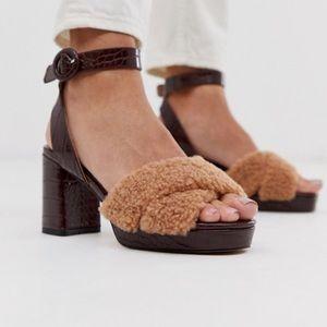 Asos Shoes Hidden Platform Block Heeled Sandals 4